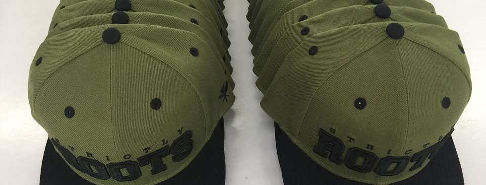STRICTLY ROOTS SNAP BACK MILITARY GREEN/BLACK