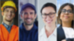 Collage_professions,_gardener,_builder,_