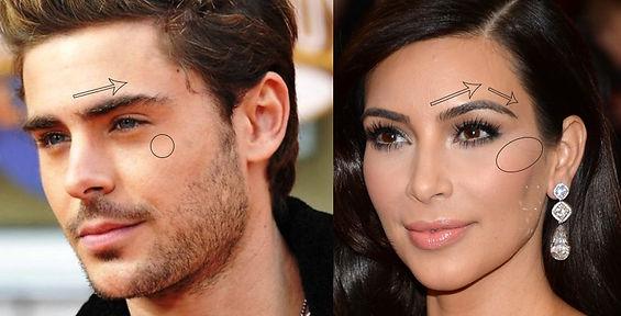 Zac Efron and Kim Kardashian Faces