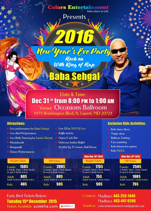 New Year Bash 2016 - Baba Sehgal