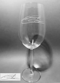 Copa vino Borgoña con firma grabada
