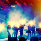 ステージ上のミュージシャン