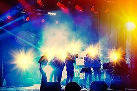 Musiker auf der Bühne