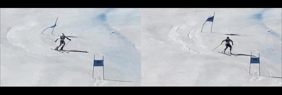 Paralelní srovnání 2 závodníků video+STRO foto