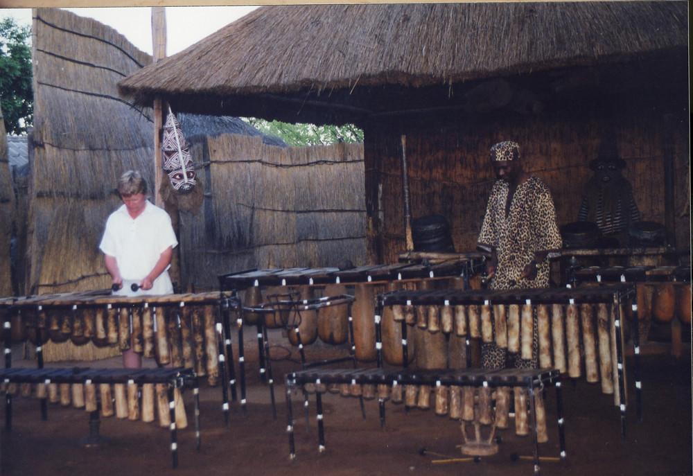 Jamming on Marimba in Zimbabwe, 2000