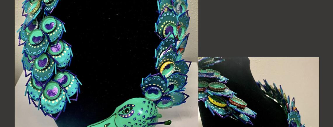 Peacock Alebrije Necklace