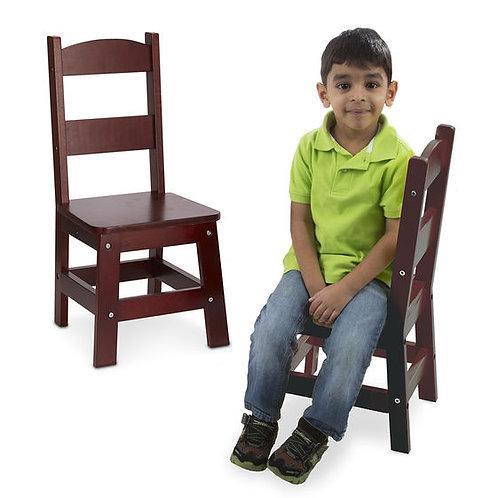 Wooden Chair Pair - Espresso