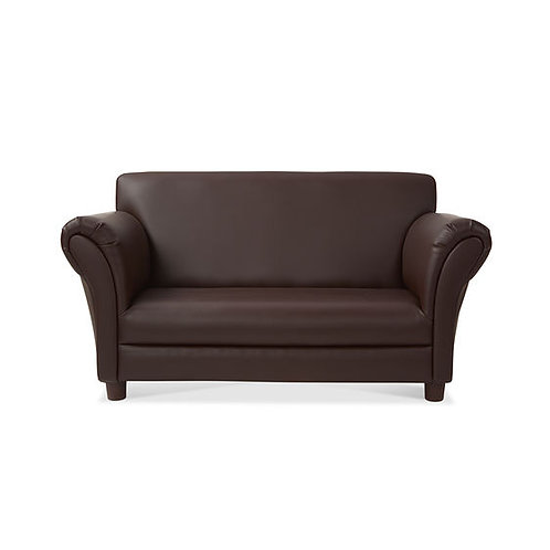 Child's Sofa - Coffee Faux Leather