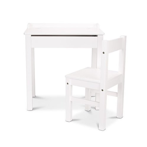 Child's Lift-Top Desk & Chair - White