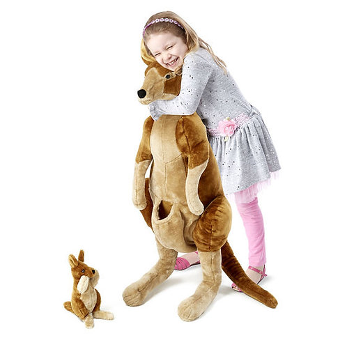 Kangaroo and Joey Lifelike Stuffed Animal