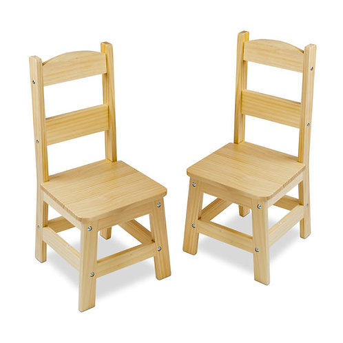 Wooden Chair Pair - Natural