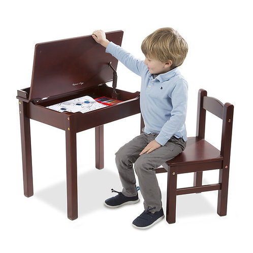 Child's Lift-Top Desk & Chair - Espresso