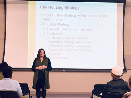 Becky Gligo Shares the City of Tulsa's Housing Strategy with North Tulsa Residents