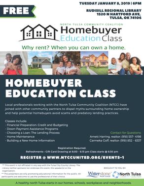 NTCC Hosts First 2019 Homebuyers Education Class