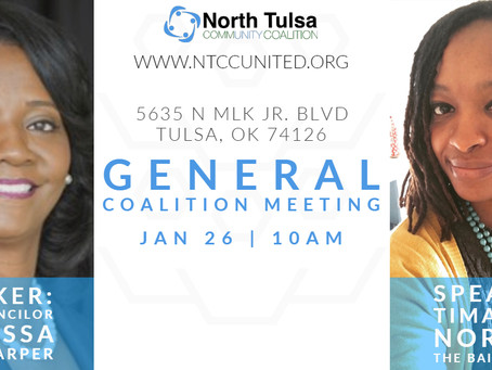 Speakers for NTCC's January 2019 General Coalition Meeting are Announced