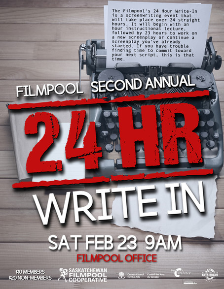 Filmpool 2nd Annual 24 Hour Write In