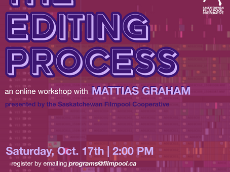"""The Editing Process"" -- An Online Workshop with Mattias Graham"