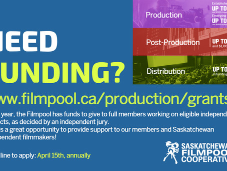 Production Grant Deadline: April 15th