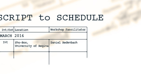 From Script to Schedule workshop