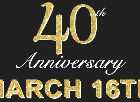 March 16th 40th Birthday Bash