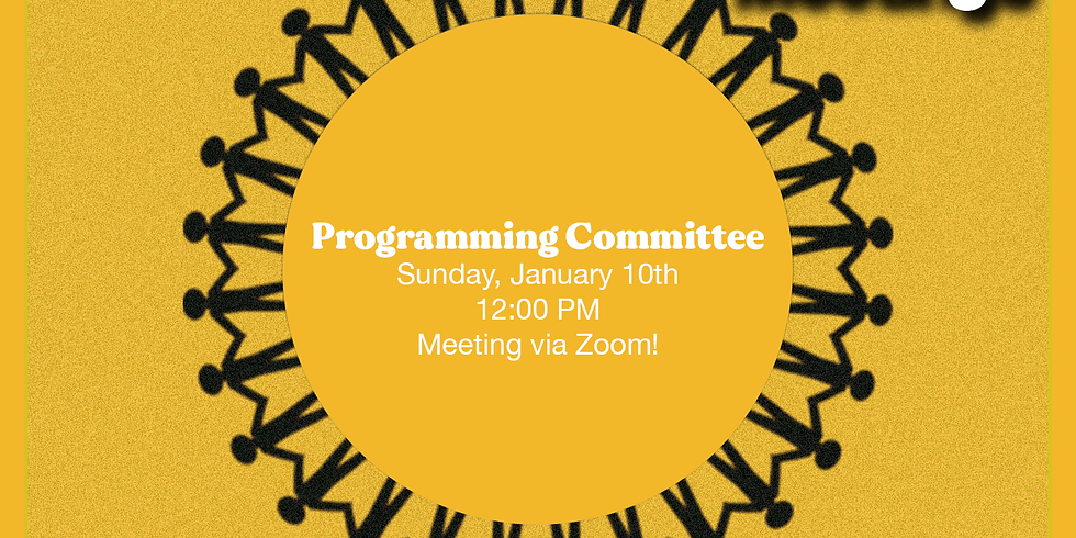 Programming Committee Meeting