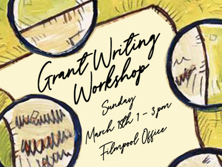 Grant Writing Workshop, March 15th