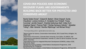 Publication on COVID-19 and protected areas