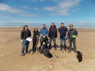 Over 130kg of rubbish was picked up at Formby Beach clean
