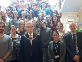 Range High visit to Southport Town Hall with exchange students from Germany