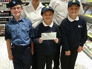 Formby Maritime Cadets say thankyou to Waitrose and the community