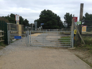 Formby resident has concerns for the insecure gate at  Fisherman's Path crossing