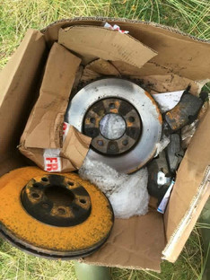 Brake discs dumped on our beautiful dunes