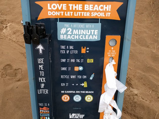 The board is out! Pop your unwanted plastic bags in and others can use them to clean the beach! 2 mi
