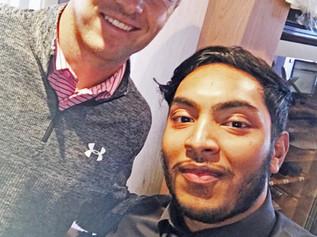 Jordan Spieth, winner of The Open 2017 dined at Formby restaurant Shantii
