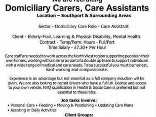 Mountbatten care are recruiting for full and part time staff