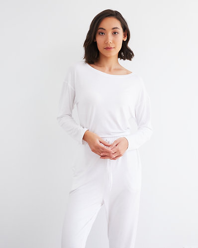 CURFEW TOP WHITE (PRE ORDER)
