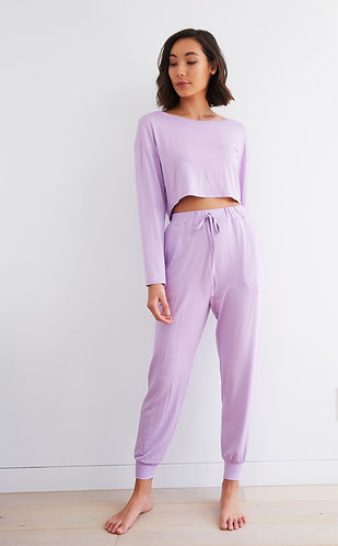 ZOOM PANTS LILAC