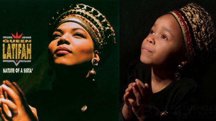 Lily as Queen Latifah
