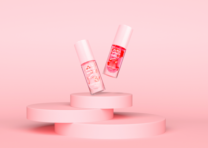 three-pink-platforms-lie-top-each-other-against-pink-background-minimalist-style-copy-spac