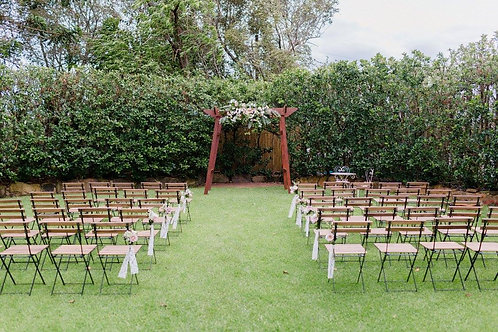 Outdoor ceremony package 50 chairs plus 4 post wedding arbour