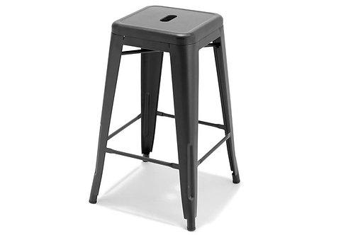 Tolix Style black steel bar stool