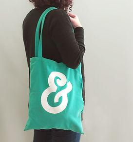 Grüne Stoff-Tasche