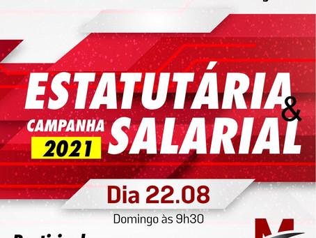 Sindicato realiza assembleia Estatutária e Campanha Salarial no domingo