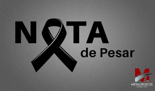 Nota de pesar pelo falecimento do empresário Carlos Roberto
