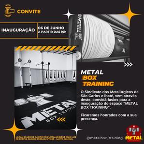 Metal Box Training será inaugurado neste domingo (6)