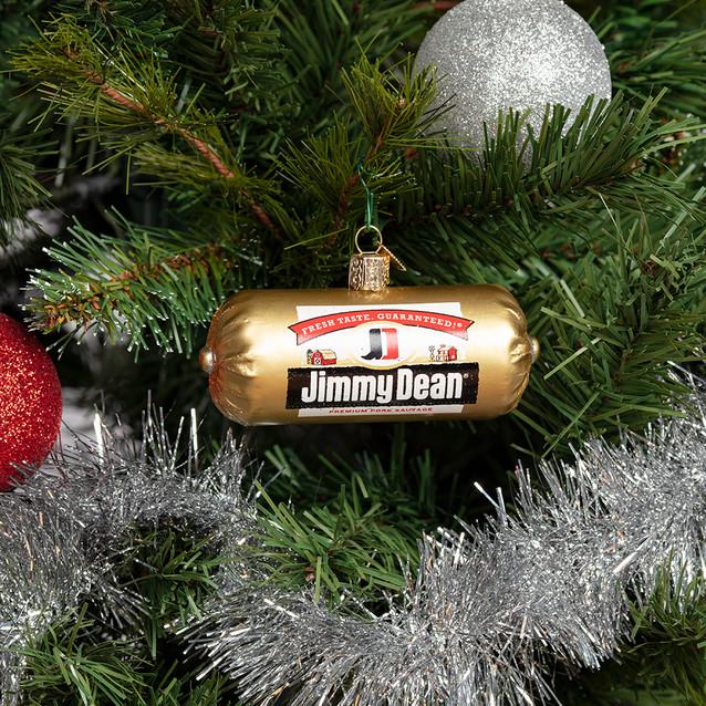 Glass Sausage Ornament