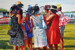 The ladies at Riccarton races