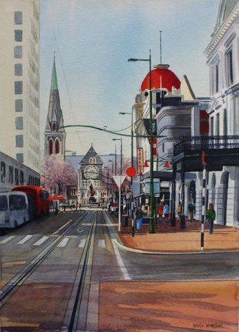 Winter morning Worcester Boulevard