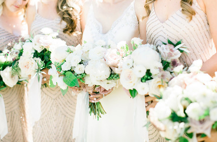 Emma Lea Floral- The Styled Soiree- Maribeth Photography- Buena Vista Colorado Wedding  | Bridal Party | Bridesmaid Bouquet | Bridal Bouquet | White, Blush, Mauve | Peony | Garden Rose | Spray Rose | Clematis |