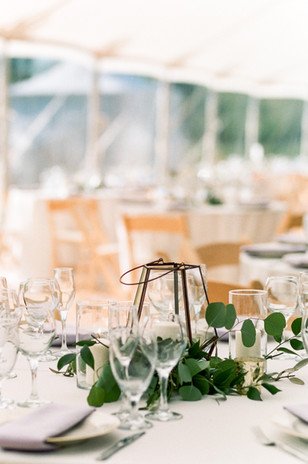 Emma Lea Floral- Purple Summer Events- Lisa O'dwyer Photography- Boulder Private Estate Colorado Wedding | Geometric Lantern Centerpiece | Eucalyptus | Candles In Glass |